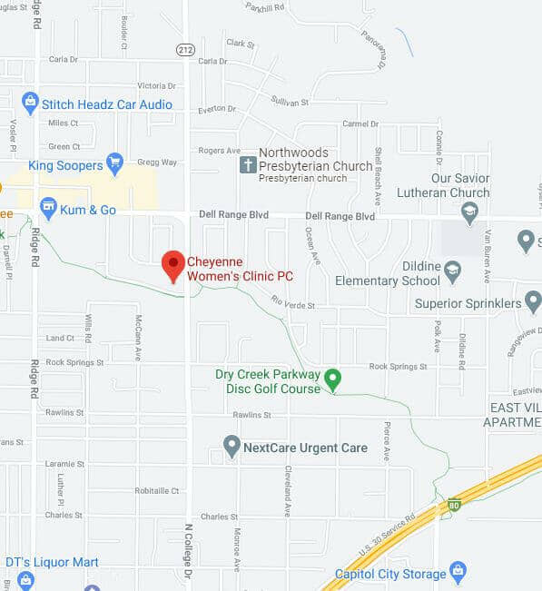 Map of Cheyenne Women's Clinic location