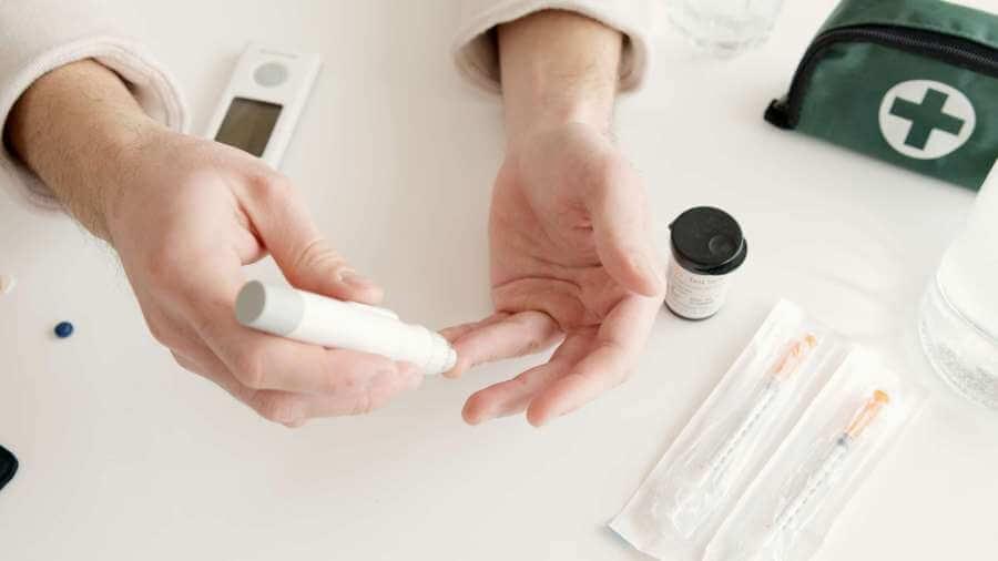 Photo of pregestational diabetes blood glucose testing